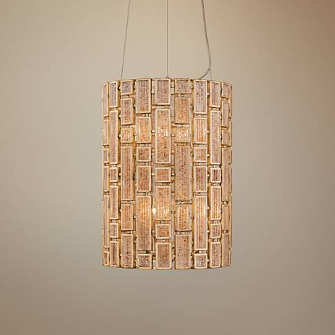 "Varaluz Harlowe 14"" Wide Havana Gold Pendant Light"