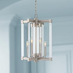 "Varaluz Halcyon 15 1/4"" Wide Satin Nickel 4-Light Pendant"