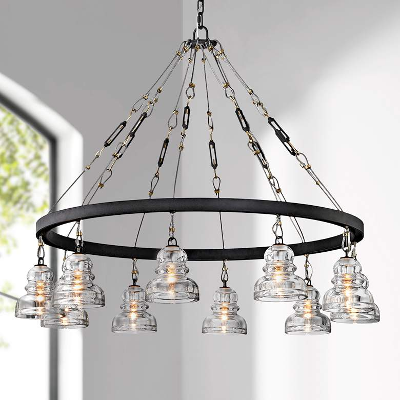 "Menlo Park 42 1/2"" Wide Deep Bronze 10-Light"