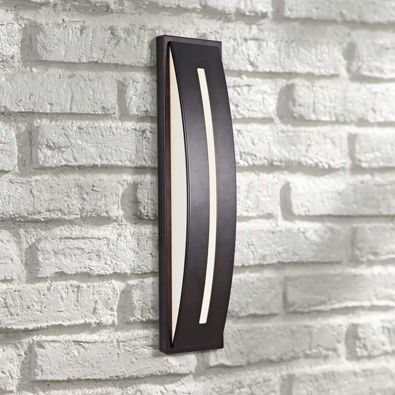 "Craftmade Luna 17""H Midnight LED Pocket Outdoor Wall"