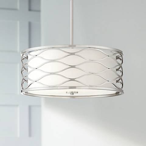 "Austen 20"" Wide Brushed Nickel Pendant Light"