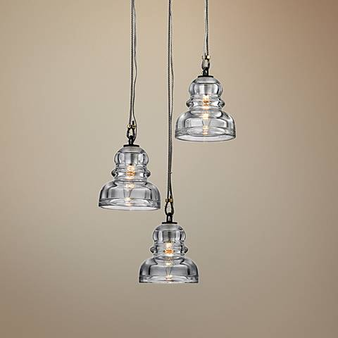 "Menlo Park 13 3/4"" Wide Deep Bronze Multi Light Pendant"