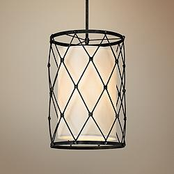 "Palisade 18"" Wide Aged Pewter Pendant Light"