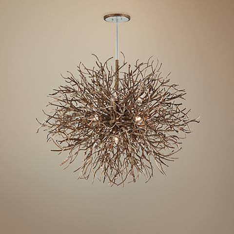 "Sierra 50"" Wide Distressed Bronze Pendant Light"