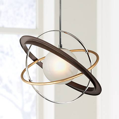 "Apogee 24"" Wide Bronze LED Pendant Light"