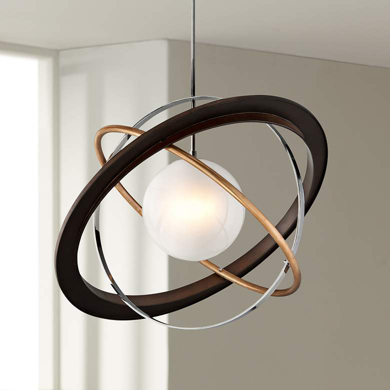 "Apogee 40"" Wide Bronze LED Pendant Light"