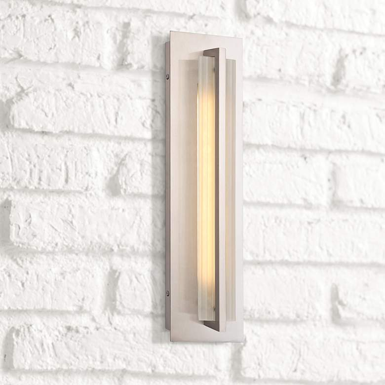 "Allure 18""H Stainless Steel LED Pocket Outdoor Wall"