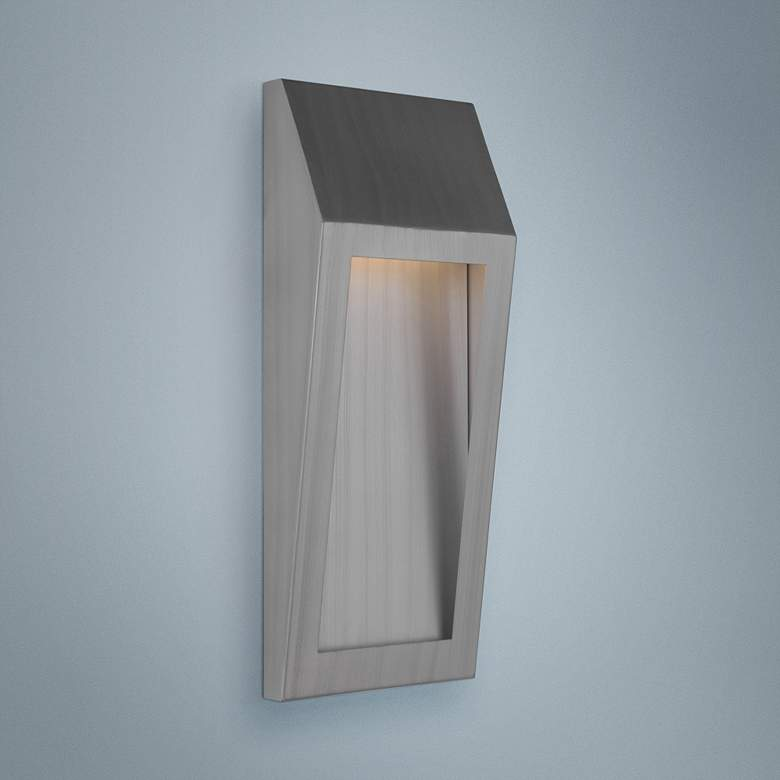 "Wedge 17 3/4""H Brushed Aluminum LED Outdoor Wall Light"