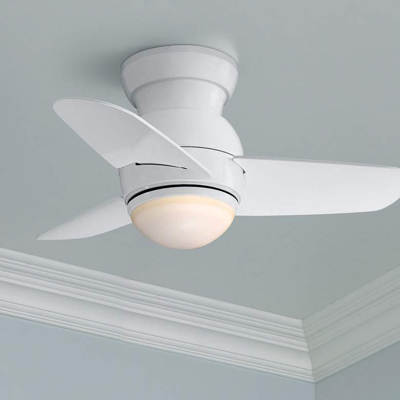 "26"" Minka Aire Spacesaver White Hugger LED Ceiling"