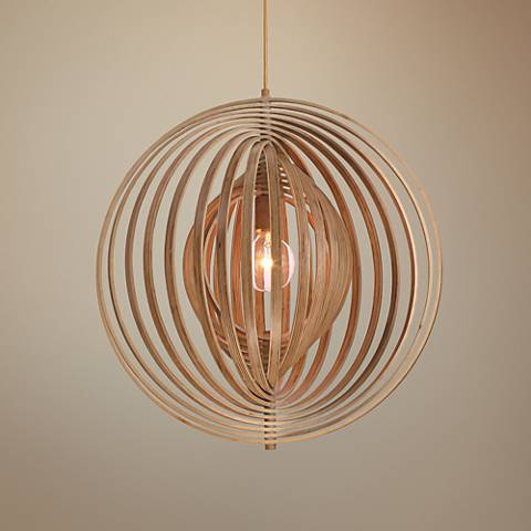 "Eurofase Abruzzo 23 1/4"" Wide Wood Pendant Light"