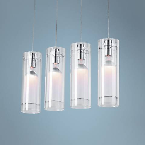 Clear Cylindrical ET2 Multi Pendant Light Fixture