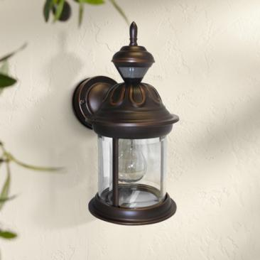 "Motion Sensor 12 3/4"" High Antique Bronze Outdoor Wall Light"