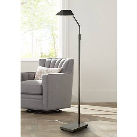 Dark Bronze Halogen Pharmacy Floor Lamp