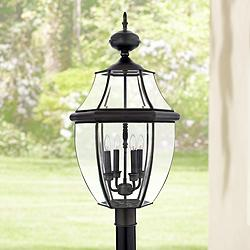 "Quoizel Newbury 29 1/2"" High Extra Large Post Light"