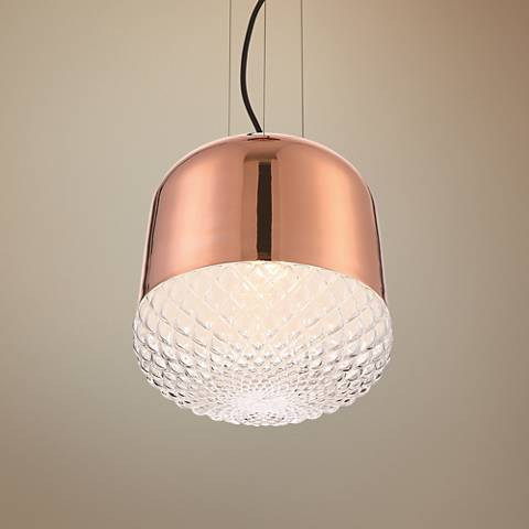 "Eurofase Corson 10"" Wide Rose Gold Mini Pendant"