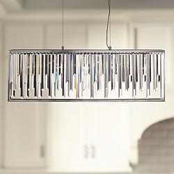 "Genova 41"" Wide Polished Chrome Kitchen Island Light Pendant"