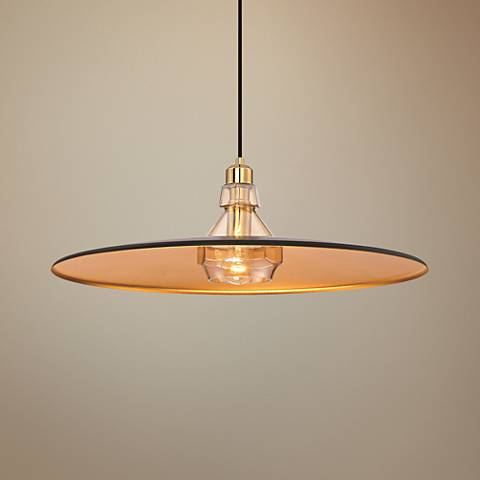 "Eurofase Legend 23 1/4"" Wide Black and Gold Pendant Light"
