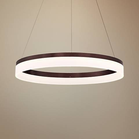 "Eurofase Minuta 17 1/4"" Wide Bronze LED Pendant Light"