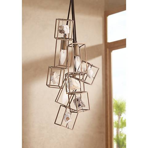"Eurofase Patton 8""W Gold and Bronze 3-Light Mini Chandelier"