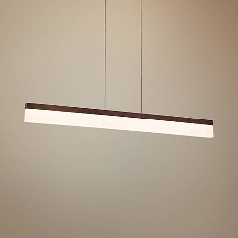 "Eurofase Tunnel 36"" Wide Bronze LED Island Pendant"
