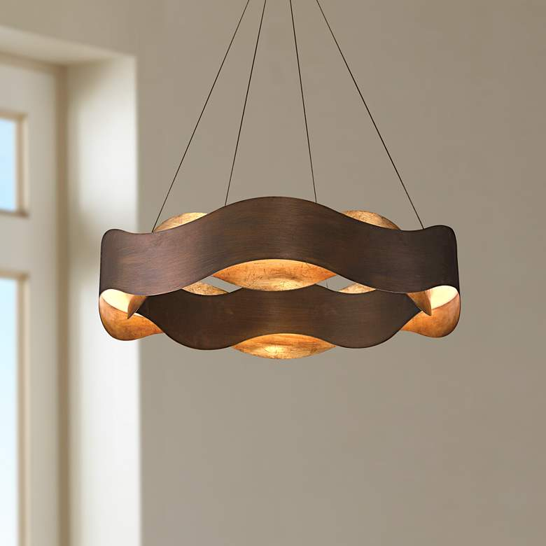"Eurofase Vaughan 24"" Wide Bronze LED Pendant Light"