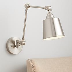 Mendes Brushed Nickel Hardwire Wall Lamp