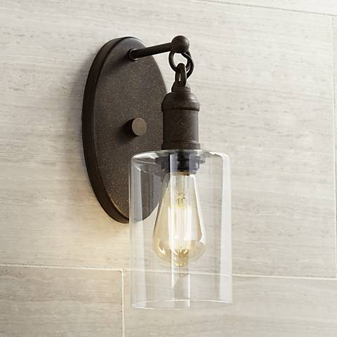 "Cloverly 11 3/4"" High Bronze LED Wall Sconce"