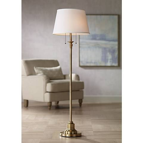 Spenser Brushed Antique Brass Floor Lamp