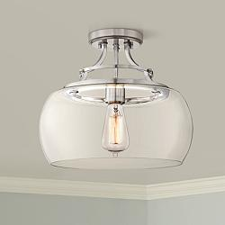 "Charleston 13 1/2"" Wide Brushed Nickel LED Ceiling Light"