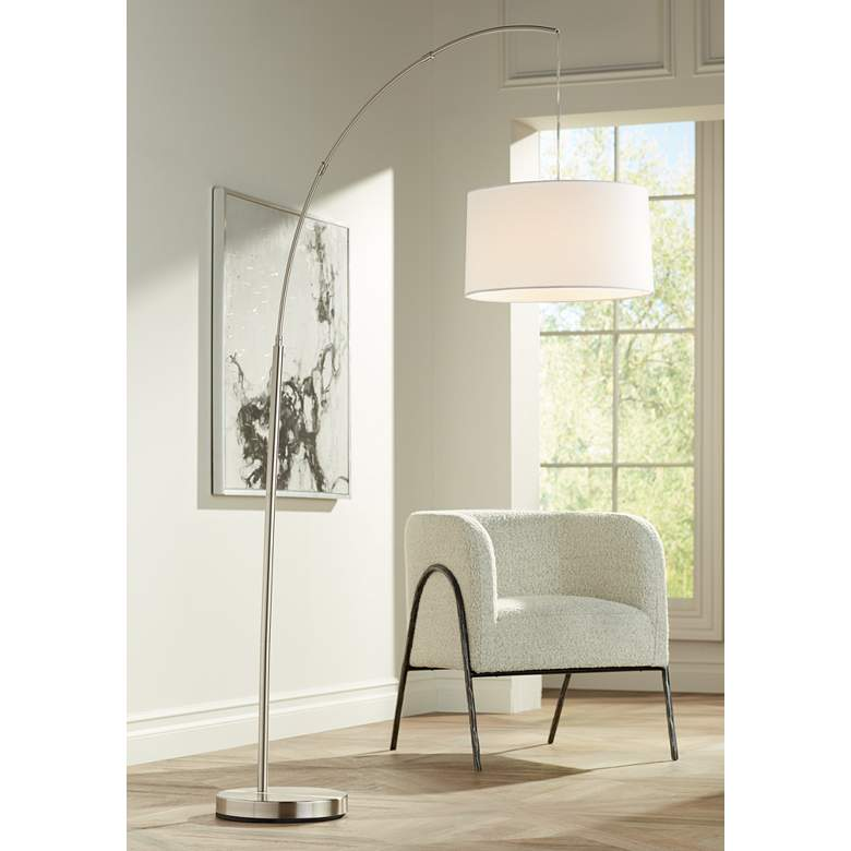 Admirable Cora Brushed Nickel Arc Floor Lamp Ibusinesslaw Wood Chair Design Ideas Ibusinesslaworg