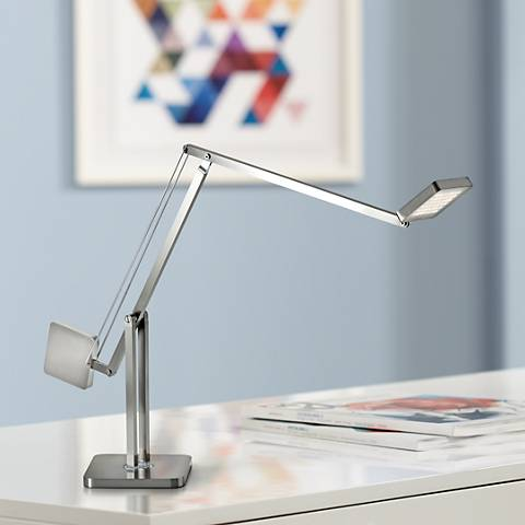 Cooper Brushed Steel Adjustable LED Desk Lamp