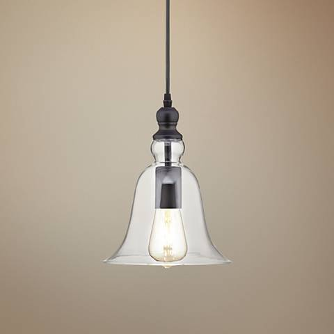 "Possini Euro Tisha 8 1/4"" Wide Black LED Mini Pendant"