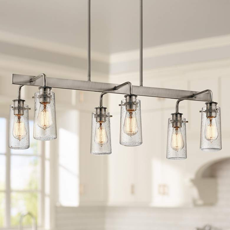 "Braelyn 34""W Classic Pewter Kitchen Island Light Chandelier"