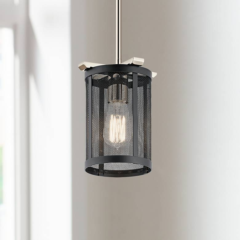 "Kichler Titus 6 1/2"" Wide Polished Nickel Mini Pendant"