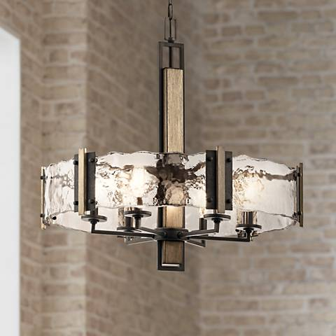 "Kichler Aberdeen 28"" Wide Olde Bronze 6-Light Pendant"