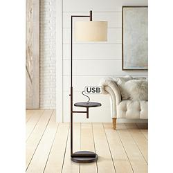 Mesa Tray Table Floor Lamp with USB Port