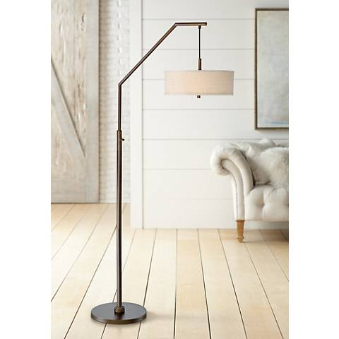 Possini Euro Kellan Oil Rubbed Bronze Arc Floor Lamp