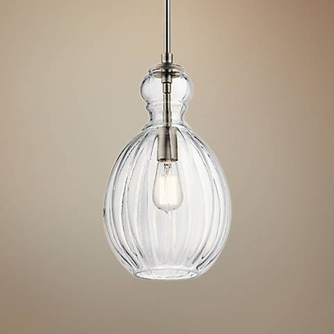 "Kichler Riviera 9"" Wide Brushed Nickel Mini Pendant"