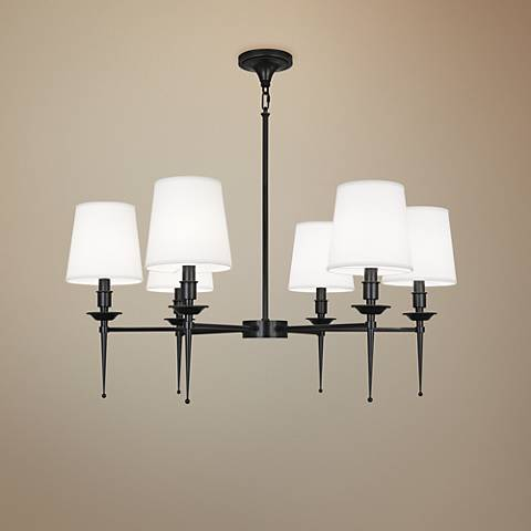 "Cedric 34 1/4"" Wide Deep Patina Bronze 6-Light Chandelier"