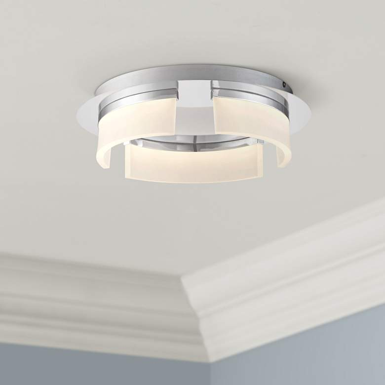 "Eurofase Bria 15"" Wide Chrome LED Ceiling Light"