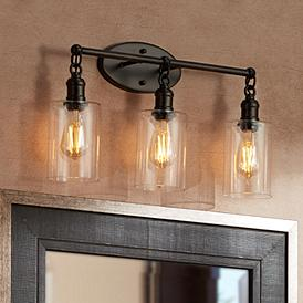 Bronze Bathroom Lighting Fixtures Lamps Plus