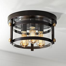 Eagleton 13 1 2 Wide Oil Rubbed Bronze Led Ceiling Light