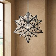 Black pendant lighting lamps plus cuthbert 15w black and clear glass star pendant light mozeypictures Image collections