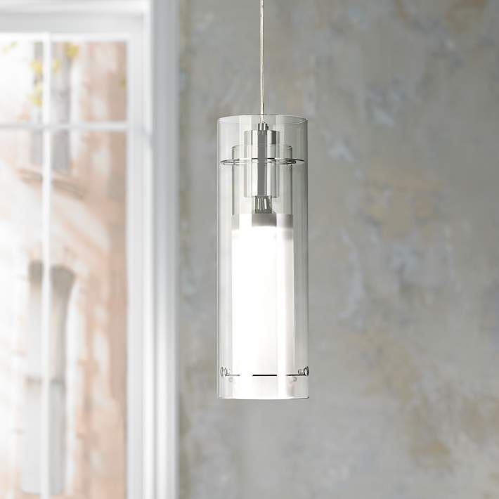W Frosted Gl Pendant Light