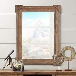 "Westbrook Brushed Brown Wood 30"" x 40"" Wall Mirror"