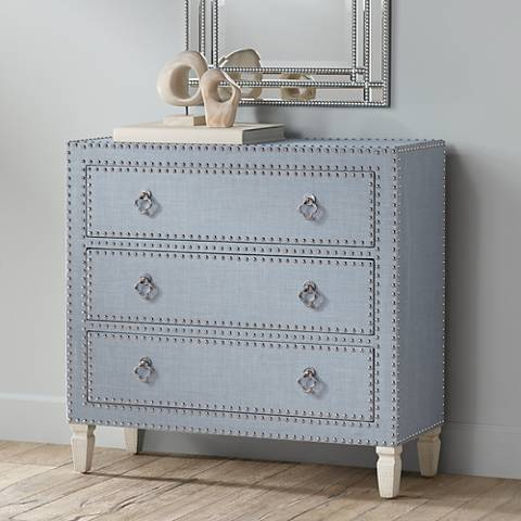 Robin Blue Traditional 3-Drawer Cabinet