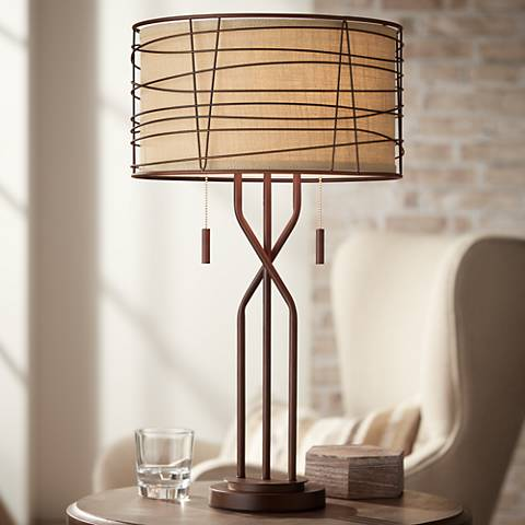 Marlowe Woven Metal Table Lamp