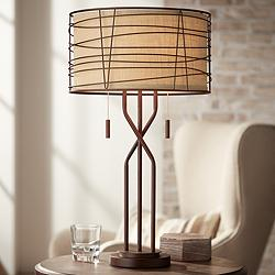 Marlowe Bronze Woven Metal Table Lamp