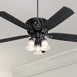 "54"" Hunter Promenade Gloss Black LED Ceiling Fan"