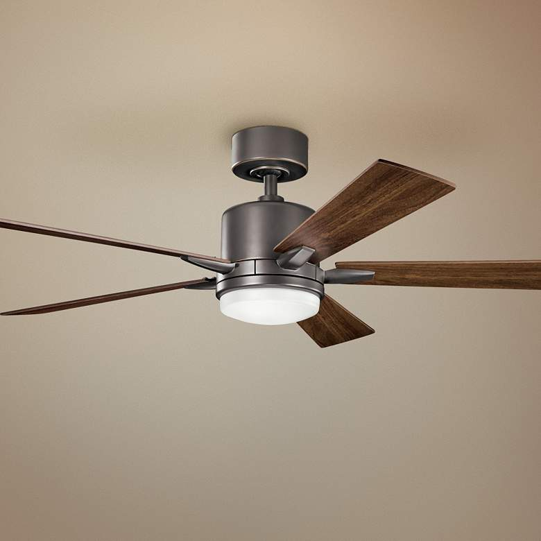 "52"" Kichler Lucian Olde Bronze LED Ceiling Fan"